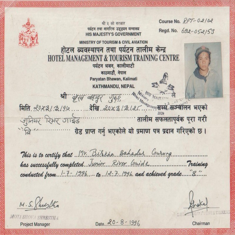 Certificate of Hotel Management